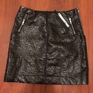 Noisy may black crinkled pleather mini skirt small
